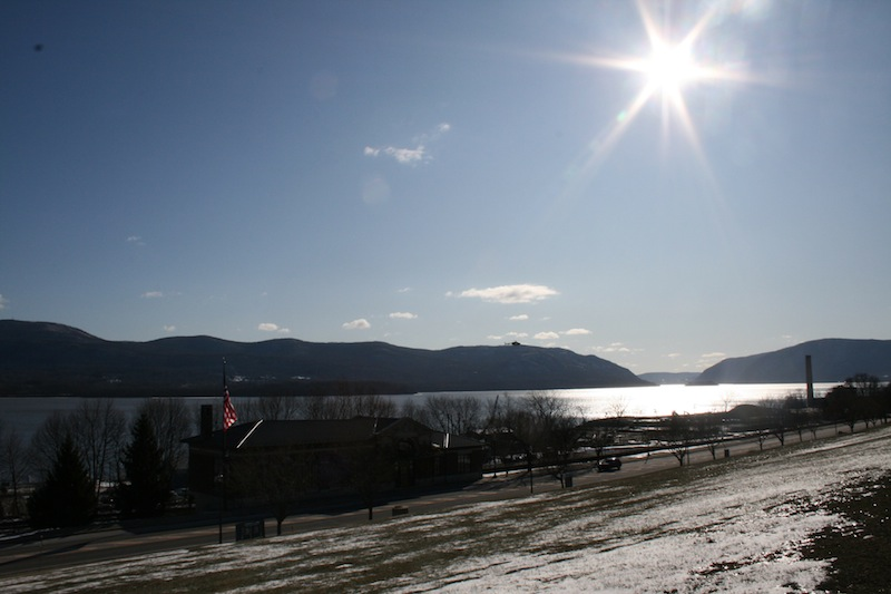 View of the Hudson River in Newburgh, NY