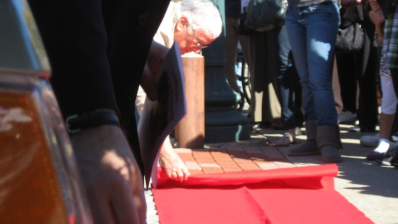 Unveiling of the Brick Walkway