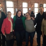 Pamela Krizek; Kathleen Cooper Downey, Photographer, with Friend Photographers at the Newburgh Brewing Company during her photography exhibit reception on Feb. 7, 2015