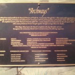 Rick Milton, Archways Donors Plaque