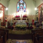 Pamela Krizek: St. Mary's Church at Christmas, 2014